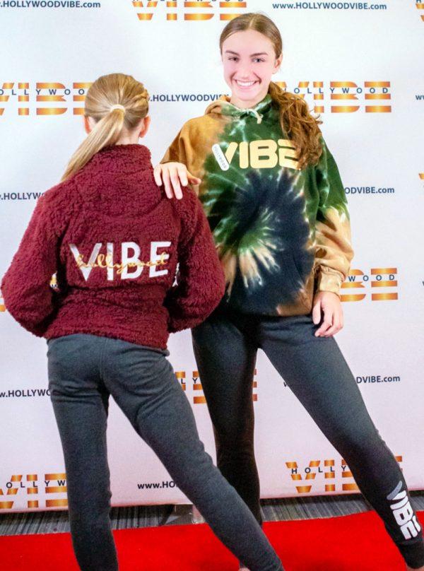 Hollywood Vibe Sherpa and Tie Dye Hoodie
