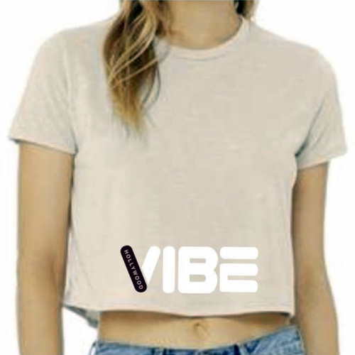 Hollywood Vibe Beige Crop Top Adult