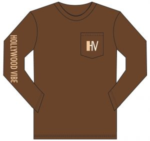 Hollywood Vibe Brown Long Sleeve with Front Pocket
