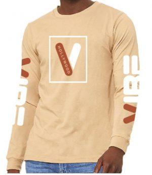 Hollywood Vibe Long Sleeve Shirt - Sand