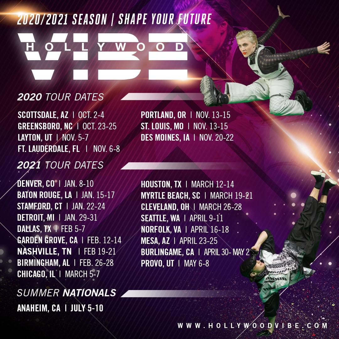 Hollywood Vibe 2020-2021 Tour Dates
