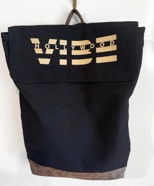 Hollywood Vibe Zipper Tote Bag FRONT