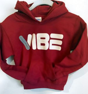 Hollywood Vibe Hoodie Red FRONT